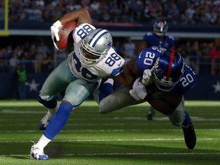 Dez Bryant #88 of the Dallas Cowboys runs