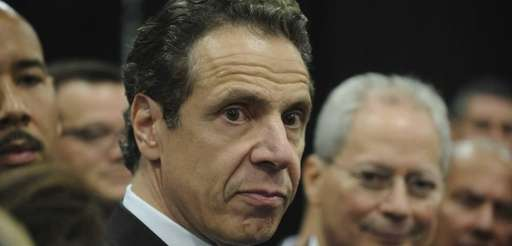 Gov. Andrew Cuomo speaks to the media after
