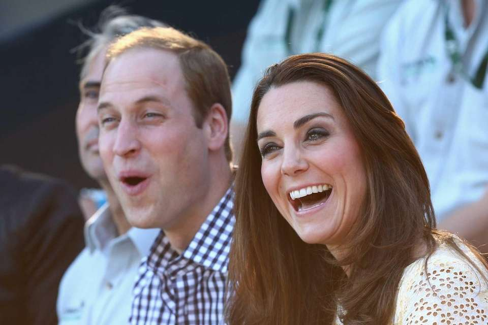 Prince William and Duchess Kate watch the Bird