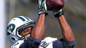 Jets wide receiver Percy Harvin works out for