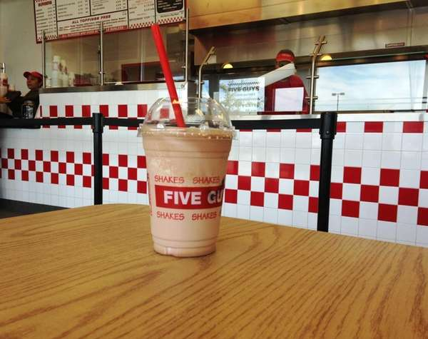 Five Guys Burgers and Fries is test-marketing shakes