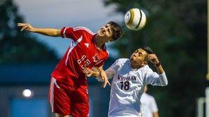 Half Hollow Hills East midfielder Taylor Kaczynski (17)