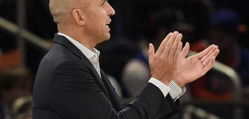 Milwaukee Bucks head coach Jason Kidd reacts during