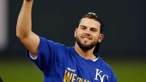 Mike Moustakas #8 of the Kansas City Royals