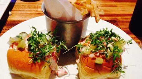 Lobster salad sliders are served at brook23 in