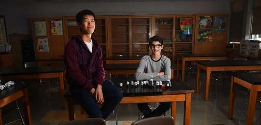Lawrence High School students Arthur Chen and Lee