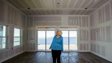 Eve Hough, a Lindenhurst resident, at her home,