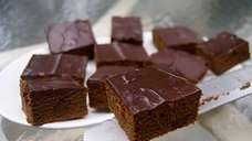 Beer gives these brownies a tender texture and