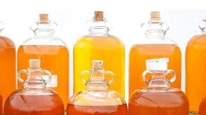 Bottles of hard cider
