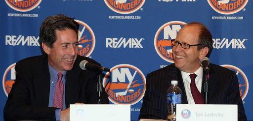 New York Islanders partners Scott Malkin, left, and