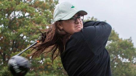 Jennifer Rosenberg, 15, practices her swing at Glen