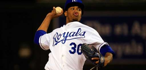 Yordano Ventura #30 of the Kansas City Royals