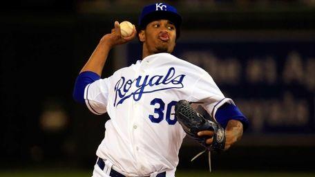 Yordano Ventura #30 of the Kansas City Royals