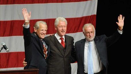 Congressman Steve Israel, left, former President Bill Clinton