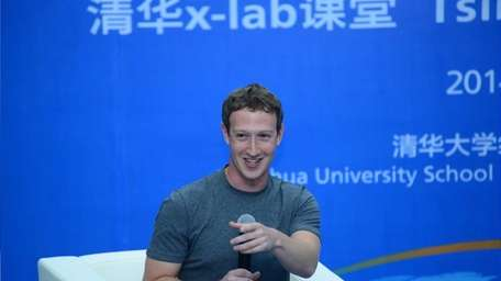Mark Zuckerberg delivers a speech on Oct. 22,