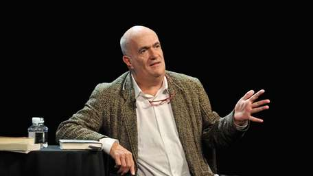 Colm Toibin on stage during The New Yorker