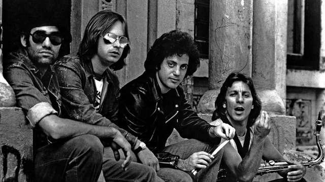 Billy Joel (second from right) with his band
