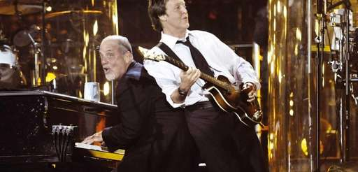 "Billy Joel and Paul McCartney perform ""I Saw"