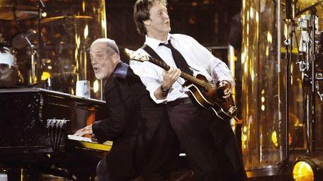 Billy Joel and Paul McCartney perform