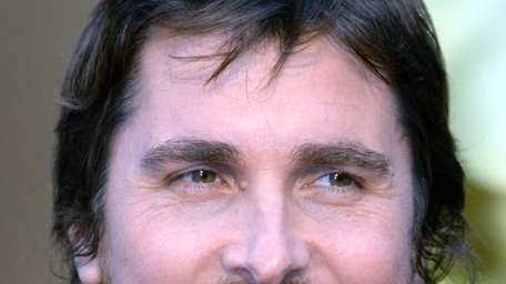 Christian Bale as he arrives on the red