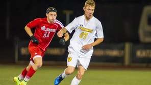 St. Anthony's forward Chase Gurcan is pursued by