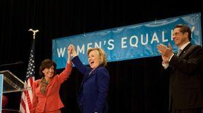 Lieutenant governor nominee Kathy Hochul with Hillary Rodham