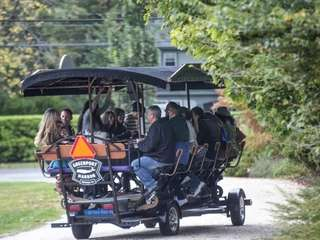 The North Fork Wine Wagon is a 15-passenger,