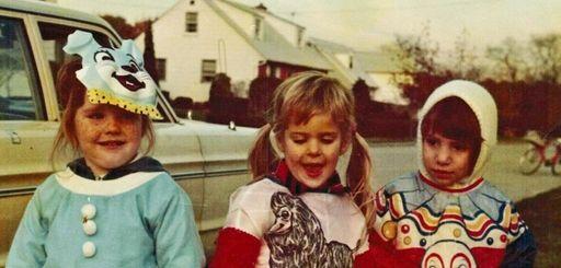 A Bethpage Halloween, 1976: Regina McCaffery, left, daughter