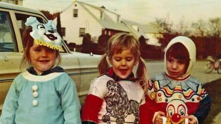 A Bethpage Halloween, 1976: Regina McCaffery, left, daughter