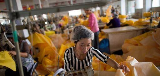 Women in a sewing room of Lakeland Industries