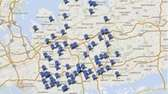 This map shows the Nassau County schools that