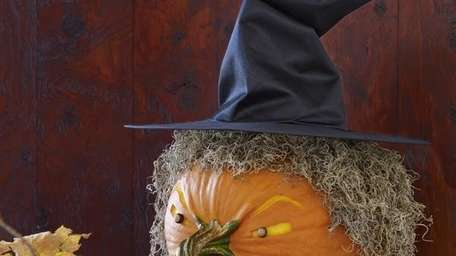 The wicked-witch pumpkin-carving idea can be found in