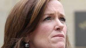 Nassau County District Attorney Kathleen Rice outside the