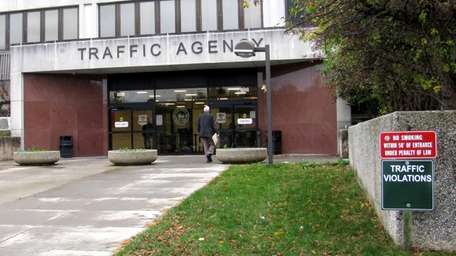 The entrance to Suffolk County's Traffic and Parking