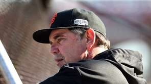 Bruce Bochy of the San Francisco Giants looks