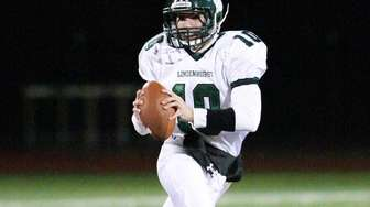 Lindenhurst's Ryan Hofmann looks to pass against Sachem