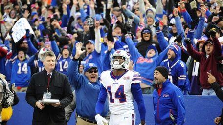 Buffalo Bills wide receiver Sammy Watkins reacts after