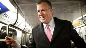 New York City mayoral candidate Bill de Blasio