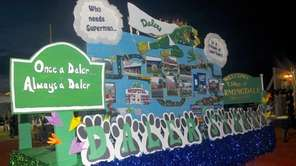 "Farmingdale High School floats celebrated the the ""Daler"