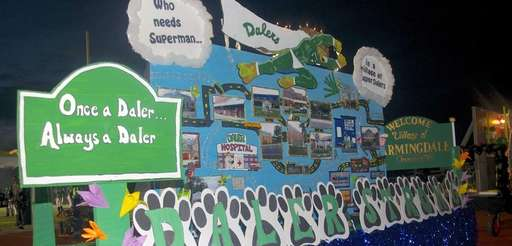"""Farmingdale High School floats celebrated the the """"Daler"""