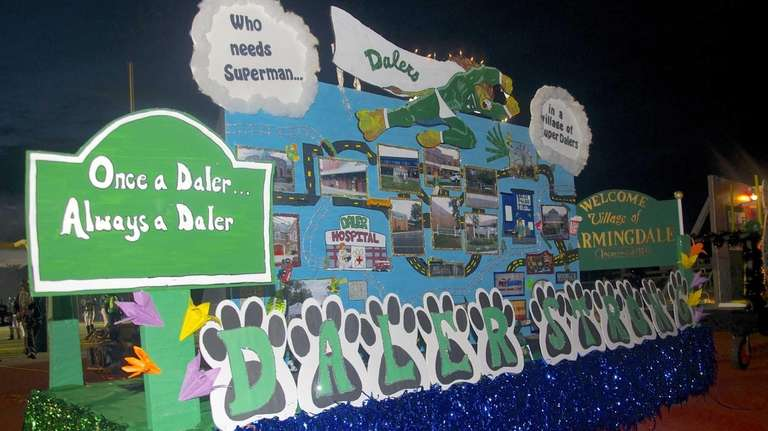 Farmingdale High School floats celebrated the the