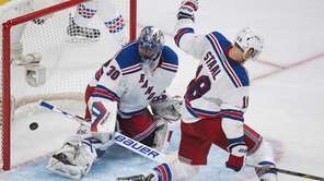 New York Rangers goaltender Henrik Lundqvist (30) is
