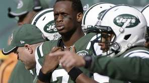Jets quarterback Geno Smith watches his team play