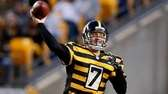 Ben Roethlisberger of the Pittsburgh Steelers throws a
