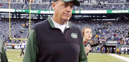 Head coach Rex Ryan of the Jets walks