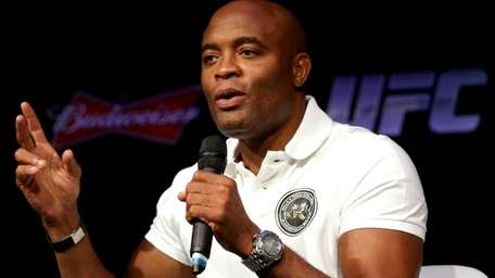 Former UFC middleweight champion Anderson Silva fields questions