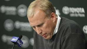 New York Jets general manager John Idzik speaks