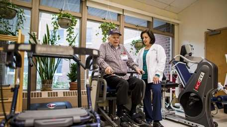 Arthur Fust receives Physical Therapy at Stony Brook's