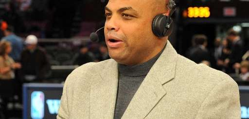 TNT announcer Charles Barkley before the game between