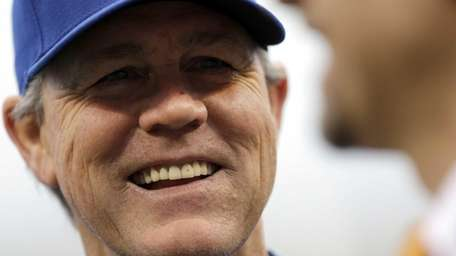 Kansas City Royals Manager Ned Yost smiles as